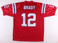 Tom Brady Signed Throwback Patriots Reebok Authentic On-Field Game Jersey (TriStar COA)