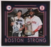Tom Brady & David Ortiz Signed 24x26 Custom Framed Photo Display (SGC COA & Tristar)