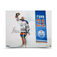 "Grant Fuhr Signed Edmonton Oilers ""Banner Night"" 16x20 Limited Edition Photo (UDA COA)"
