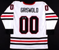 """Chevy Chase Signed """"National Lampoon's Christmas Vacation"""" Blackhawks Jersey (Beckett COA & Chase Hologram)"""