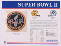 Commemorative Super Bowl II Scorecard With Super Bowl Patch: Packers vs Raiders at PristineAuction.com