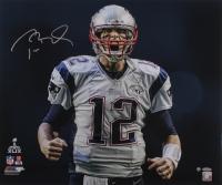 "Tom Brady Signed Patriots Super Bowl 49 ""Scream"" 20x24 Metallic Photo (Steiner COA & TriStar)"