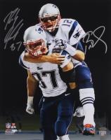 Tom Brady & Rob Gronkowski Signed Patriots 16x20 Photo (TriStar COA & Steiner)