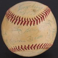 1960 Yankees Baseball Signed by (27) Mickey Mantle, Yogi Berra, Whitey Ford, Roger Maris, Tony Kubek, Bobby Richardson, Ralph Terry (JSA LOA)