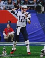 Tom Brady Signed Patriots Super Bowl XLIX 16x20 Photo (TriStar)