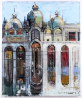 "Alex Zwarenstein Signed ""Basilica St Marco"" 20x24 LE Original Oin Painting on Canvas"