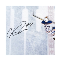 "Connor McDavid Signed Edmonton Oilers ""Great from Avove"" 18.5x30.5 Custom Framed Acrylic Display (UDA COA) at PristineAuction.com"