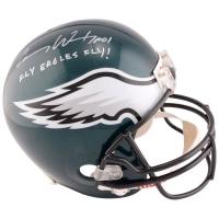 "Carson Wentz Signed Philadelphia Eagles Full-Size Helmet Inscribed ""Fly Eagles Fly!"" (Fanatics Hologram) at PristineAuction.com"