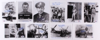 Lot of (10) WWII Veteran 5x7 Photos Signed by Ellsworth Carrington, Wayne Grunning, Thomas Costa, Richard Cannon, George Brambec, Leonard Godfrey with Multiple Inscriptions (PSA COA)