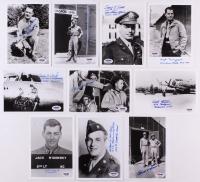 Lot of (10) WWII Veteran 5x7 Photos Signed by George Brabenec, Russell Angeli, Robert Halder, Edbert Smith, Stanley Steinke with Multiple Inscriptions (PSA COA)