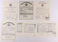 Lot of (6) Replica Military Documents Signed by Robert Hensler & Russell Angeli with Multiple Inscriptions (PSA COA)
