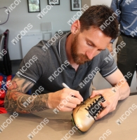Lionel Messi Signed Adidas Soccer Cleat (Icons COA) at PristineAuction.com