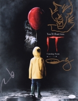 "Bill Skarsgard & Andres Muschietti Signed ""It"" 11x14 Photo with Hand Drawn Sketch (JSA COA)"