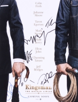"""Kingsman: The Golden Circle"" 11x14 Photo Signed by (6) with Halle Berry, Channing Tatum, Pedro Pascal, Colin Firth, Jeff Bridges & Taren Egerton (JSA ALOA)"