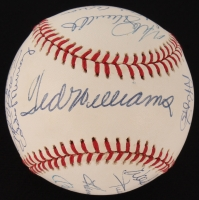 500 Home Run Club OAL Baseball Signed by (21) with Mickey Mantle, Hank Aaron, Ted Williams, Willie Mays, Albert Pujols, Reggie Jackson (JSA LOA)