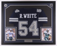 "Randy White Signed Cowboys 35x42.75 Custom Framed Jersey Display Inscribed ""SB XII MVP"" (Beckett COA)"