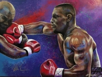Mike Tyson Signed 30x40 LE Hand-Embellised Giclee on Canvas by Bill Lopa AROC #11/44 (Lopa Studios LOA)