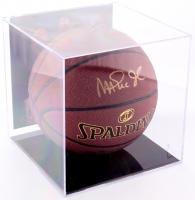 Magic Johnson Signed Basketball with Display Case (PSA COA)