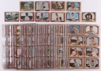 1955 Bowman Complete Set of (320) Baseball Cards with #1 Hoyt Wilhelm, #202 Mickey Mantle, #22 Roy Campanella, #23 Al Kaline, #184 Willie Mays, #10 Phil Rizzuto, #179 Hank Aaron, #242 Ernie Banks, #168 Yogi Berra, #37 Pee Wee Reese