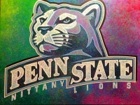 Artist Bill Lopa Signed Penn State Nittany Lions 36x48 Original Painting on Canvas by Bill Lopa #1/1 (Lopa Studios LOA)