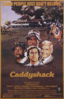 "Chevy Chase, Cindy Morgan & Michael O'Keefe Signed ""Caddyshack"" 24x36 Movie Poster Inscribed ""Lacey"" & ""Noonan"" (Schwartz COA & Chase Hologram)"