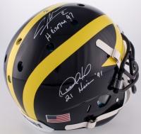 "Charles Woodson & Desmond Howard Signed Michigan Wolverines Full-Size Authentic On-Field Helmet Inscribed ""Heisman 97"" & ""Heisman '91"" (Radtke COA)"