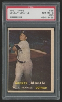 1957 Topps #95 Mickey Mantle (PSA 8)