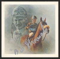 Bill Shoemaker Signed 5.75x6 Postcard Print (JSA COA)