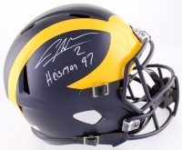 "Charles Woodson Signed Michigan Wolverines Full-Size Speed Helmet Inscribed ""Heisman 97"" (Radtke COA)"