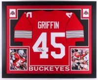 "Archie Griffin Signed Ohio State Buckeyes 35"" x 43"" Custom Framed Jersey Inscribed ""H.T. 1974/75"" (JSA COA)"