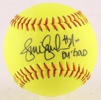 "Jennie Finch Signed Softball Inscribed ""04 Gold"" (Leaf COA)"