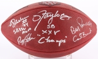 "Official NFL Game Ball Signed By (5) With Lawrence Taylor, Bill Parcells, Carl Banks, Pepper Johnson Inscribed ""SB XXV MVP"" & ""SB XXV Champs (JSA COA)"