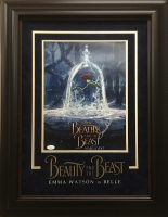 "Emma Watson Signed ""Beauty and the Beast"" 21x27 Custom Framed Photo (JSA LOA)"