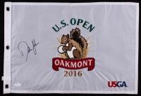 Dustin Johnson Signed 2016 Oakmont US Open Pin Flag (JSA COA)