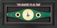 Muhammad Ali Signed IBO Championship Belt 22x44x3 Custom Framed Shadowbox Display (JSA LOA)