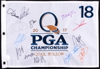 2017 PGA Championship Golf Pin Flag Signed by (13) with Jordan Spieth, Sergio Garcia, Justin Thomas, Jon Rahm (JSA ALOA)