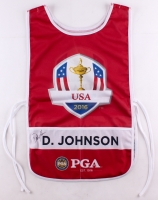 "Dustin Johnson Signed ""2016 US Open Oakmont"" Caddy Bib (JSA LOA)"