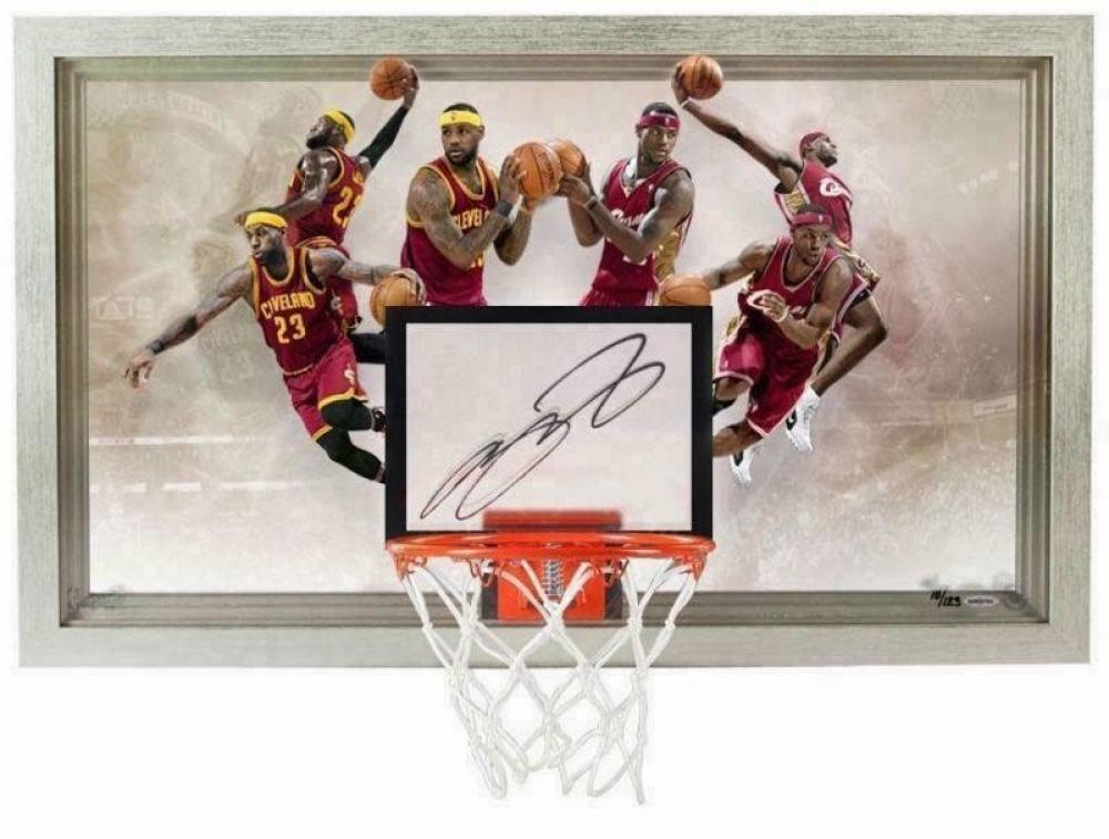 """LeBron James Signed Cavaliers LE """"Deja Vu"""" 18x30 Acrylic Backboard Display (UDA COA) at PristineAuction.com"""