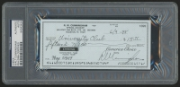 Walt Cunningham Signed Original Check (PSA Authentic)