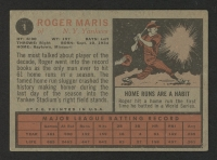 1962 Topps #1 Roger Maris at PristineAuction.com