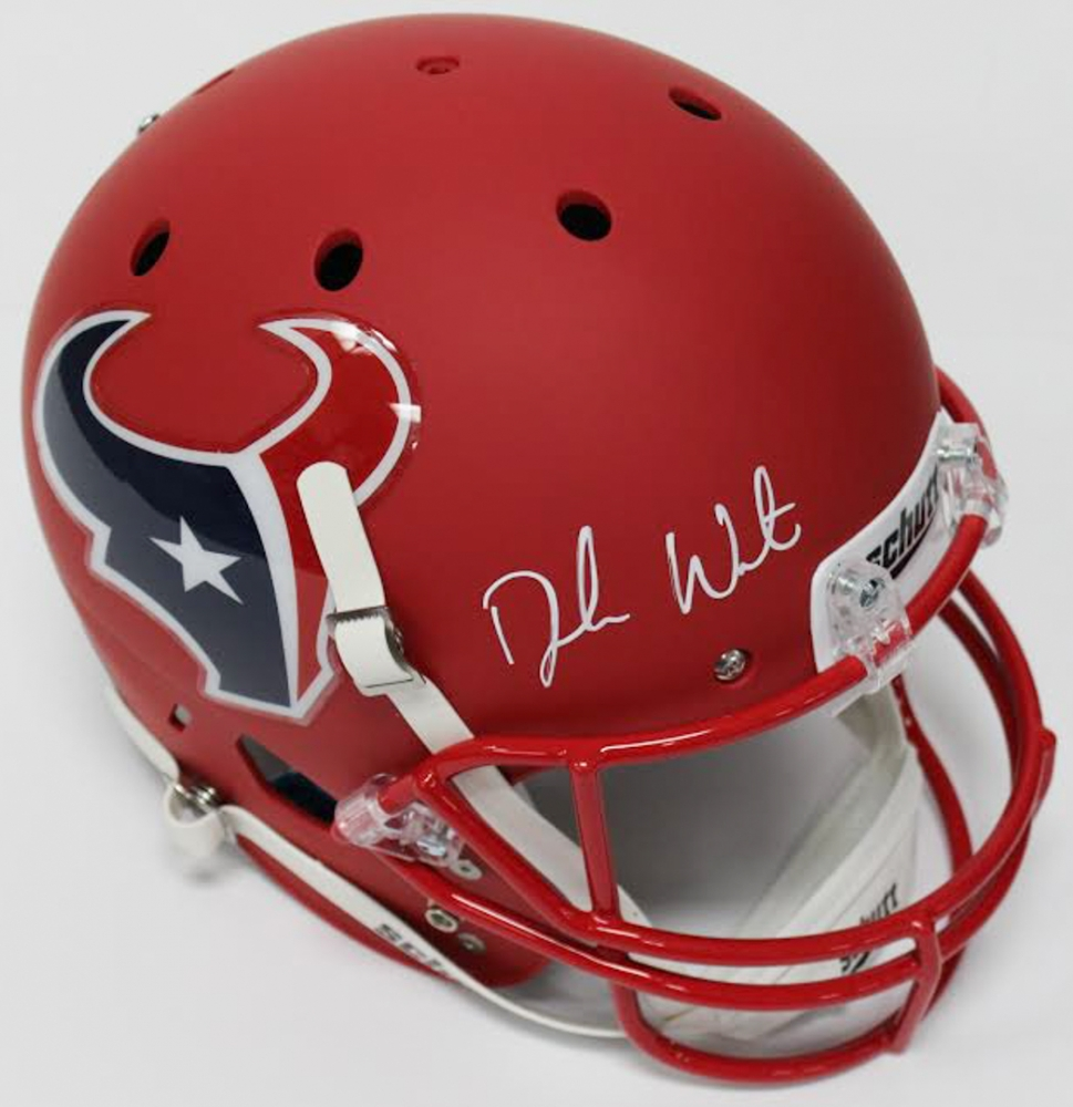 Deshaun Watson Signed Texans Full-Size Custom Matte Red Helmet (JSA COA    Watson f52264e1e