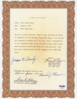 "James N. Price & Thomas J. Classen Signed Typed 1995 Certificate Dated ""June 6, 1995"" (PSA LOA)"