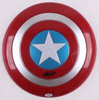 Stan Lee Signed Captain America Shield (PSA COA)