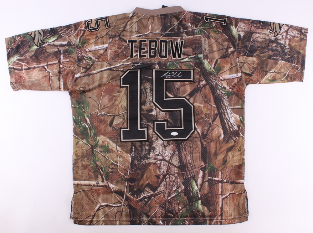 Tim Tebow Signed Camo Broncos Jersey (JSA COA) at PristineAuction.com 419d8a2f2