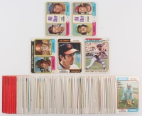 Lot of (200) 1974 Topps Baseball Cards with #201 Batting Leaders/Rod Carew/Pete Rose, #339 Jim Hunter/Rick Wise All-Star