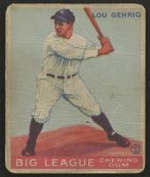 1933 Goudey #160 Lou Gehrig RC