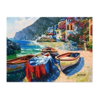 "Howard Behrens Signed ""Memories of Capri"" Hand Embellished Limited Edition 24x32 Giclee on Textured Board at PristineAuction.com"