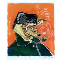 "Chuck Jones Signed ""Vincent Van Coyote"" Limited Edition 10x11 Fine Art Stone Lithograph"