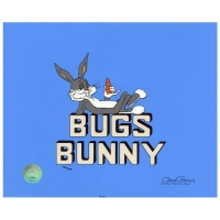 "Chuck Jones Signed ""Title ""Bugs Bunny"""" Hand-painted Limited Edition 13x16 Sericel at PristineAuction.com"