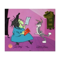 "Chuck Jones Signed ""Rabbit Recipes"" Hand-painted Limited Edition 10x12 Sericel"